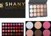 Set de maquillaje profesional shany cosmetics 32 labiales mate, 15 correctores ,2 iluminad