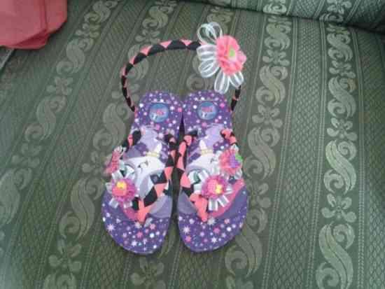 Fotos de sandalias decoradas con cintas para ni as - Cintas para decorar ...
