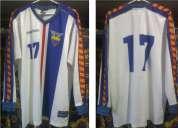 Camiseta ecuador alterna manga larga 1999 17 talla xl.