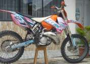 Flamante ktm sx 125 de cross 2005