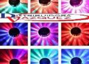 Platillo rgb con luces discoteca led laser 48 leds