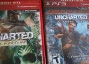 Uncharted!!! 1 y 2 !! ps3! buenisimo en exelente estado!