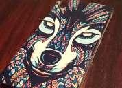 Case para sony xperia z1 diseño: cara de lobo azteca