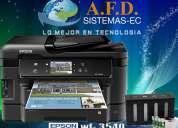 Impresora epson wf 3540 con sistema de tinta continua