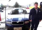 Robo auto skoda fabia 2008 color azul placas pbd-5320