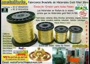 Hilos gold filled 18k para elaborar joyerias – directo de  brazil