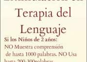Terapia para trastornos del habla y lenguaje  para dislexia