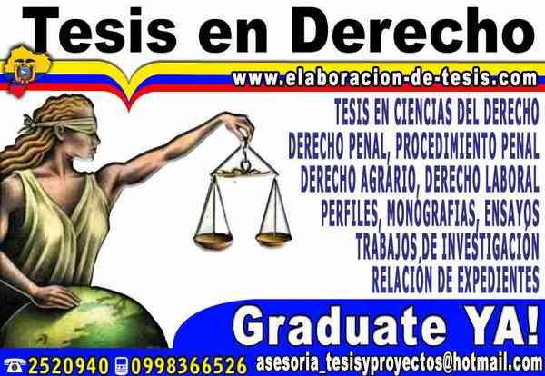Desarrollo tesis de Derecho, Tesinas, Monografias, Maestrias de todas las Universidades