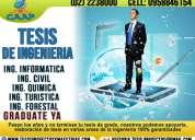 Asesoría profesional de tesis de ingeniería, tesinas, proyectos, monografías, maestrias