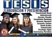 Asesoría y elaboración de tesis, tesinas, masters, doctorados, monografías, proyectos