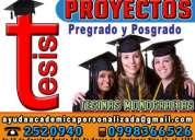 Asesoría y elaboración de proyectos de investigación tesis, tesinas, maestría y doctorados