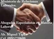 Abogados asesoría jurídica para sus contratos  laborales y su empresa