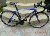 bicicleta de ruta, fibra de carbón, excelente estado