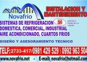 , instalacion, mantenimiento y reparacion de cuartos frios o aires acondicionados