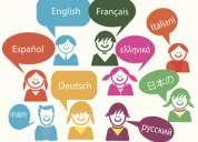 Clases de ingles,frances,aleman,kichwa,italiano,portugues,ruso,japones,arabe,chino, hebreo,latin.