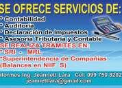 Servicios de asesoría contable y administrativa