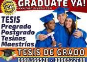 Graduate ya. tesis profesionales: revisión y asesoría presencial. diplomado. maestrias. monografia