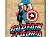 Posters vintage metÁlicos de thor y capitÁn amÉrica