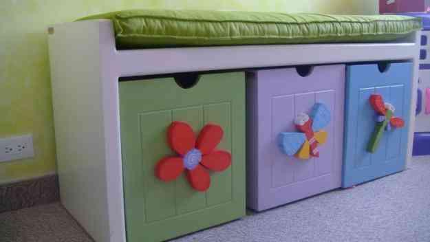 Decoracion infantil deco kids arquitectura interior for Muebles almacenaje ninos