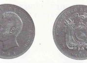 Vendo monedas de cinco sucres aÑos 1944 y de un dolar aÑo 1971