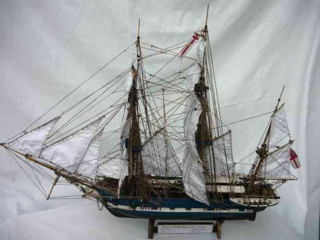 Maqueta del barco beagle de charles darwin 60 cm esc 1 75 - Antiguedades de barcos ...