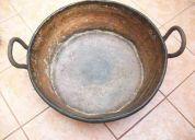 Antigua paila de cobre, utilizable