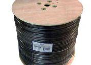 Cable rg-6 con mensajero por bobinas, conectores sma, tnc, para bases celulares y antenas