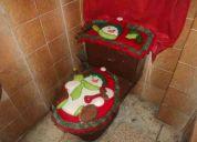 adornos navideÑos - juego de baÑo