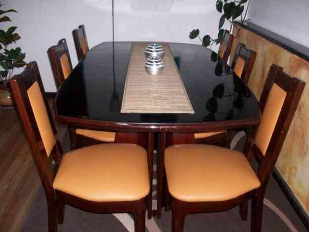 Juego de comedor para 6 personas cuenca hogar jardin for Precio de juego de comedor de madera de 6 sillas