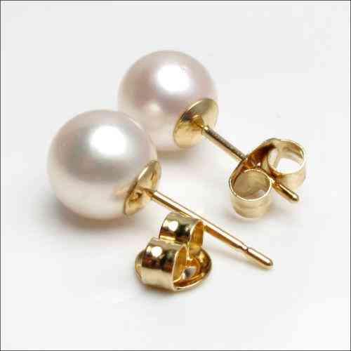 selección premium aeab7 d88fa Aretes de oro de 14 kilates con perlas legitimas en Guayaquil