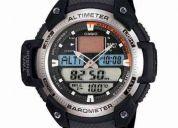 Reloj casio sgw-400 de resina altimetro barometro termometro