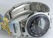 Reloj casio aw80 telememo, iluminator, garantia 1 año (contacto: 081471175)
