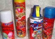 Espuma para fiestas infantiles,matrimonios,cumpleaños etc...y carnavales