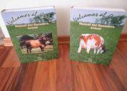 Vendo manual del ganadero actual.dos tomos.140 dolares