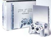 play station 2 slim color plata