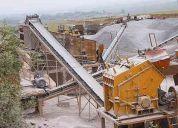 La línea de producción de piedra,es la producción de agregados