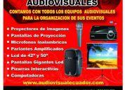 alquiler de proyectores guayaquil / pantallas / lcd / parlantes / microfonos / computadora