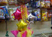 Globos metalicos y decoraciones
