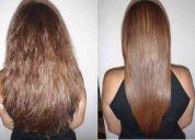 Extensiones 100% cabello humano virgen y alisado con keratina