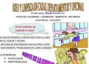 Aseo y limpieza de casas departamentos y oficina
