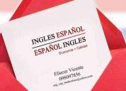 Traducciones español-ingles y de ingles-español, servicio garantizado y precios competitiv