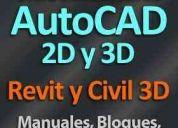 Curso autocad + revit + civil 3d + bloques + planos + símbol