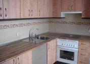 Muebles de cocina, piso flotante