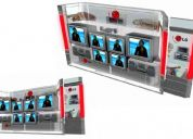 Islas stands displays counters