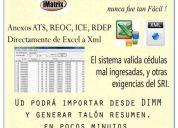Software convertidor excel a xml anexos transaccionales 2013 rdep