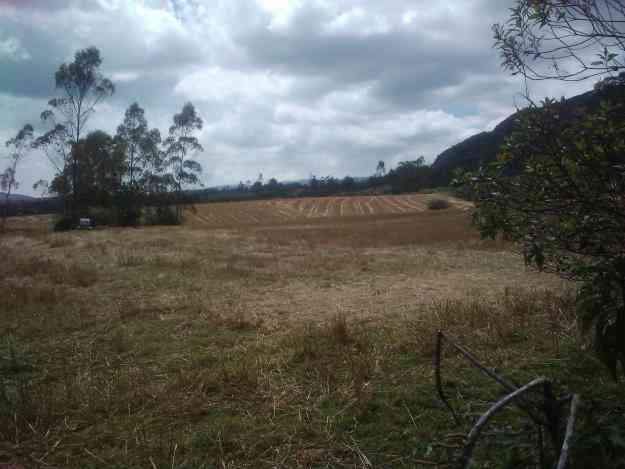 Hacienda en Cotacachi, detrás de la laguna.