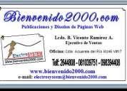 Pagina web en ecuador.diseño página web,crear pagina web.publicidad.www.bienvenido2000.com