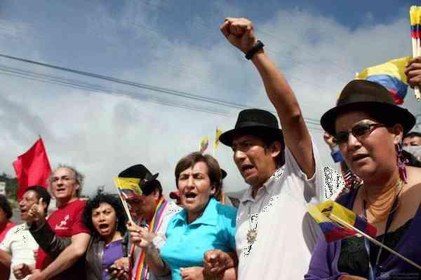 Jornadas de protesta en Ecuador contra ECSA, o Ecuacorriente S.A. y demás transnacionales