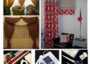 Cortinas clasicas, roller, de madera, romanas, paneles, plegables, cenefas
