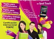 Cursos regulares de ingles!!! de regreso a clases te ragalamos un ipod touch!!!